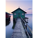 Vliesové fototapety Hefele dům na jezeře, rozměr 200 cm x 280 cm