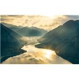 Vliesové fototapety Hefele zlaté hory, rozměr 400 cm x 280 cm