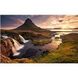 Vliesové fototapety Hefele ráno na Islandu, rozměr 400 cm x 280 cm