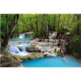 Vliesové fototapety vodopády rozměr 375 cm x 250 cm