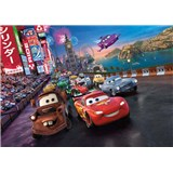 Fototapeta Disney Cars Mc Queen a Burák race rozměr 254 cm x 184 cm