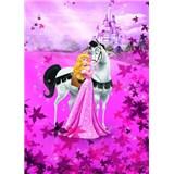Fototapeta Disney Princezna a bílý kůň rozměr 184 cm x 254 cm