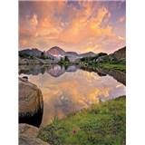 Fototapety horské jezero rozměr 184 cm x 254 cm