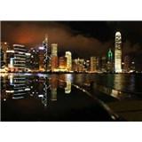 Vliesové fototapety noční velkoměsto rozměr 208 cm x 146 cm