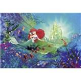 Fototapety Disney Malá mořská víla Arielin zámek rozměr 368 cm x 254 cm
