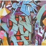 Papírové tapety na zeď Graffiti - POSLEDNÍ KUS