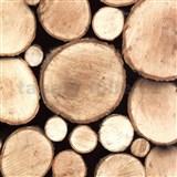 Samolepící tapety dřevěná polena 45 cm x 15 m