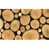 Samolepící tapety dřevěná polena 67,5 cm x 15 m