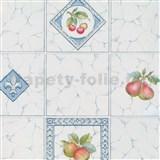 Samolepící tapety - kachličky s ovocem 45 cm x 15 m