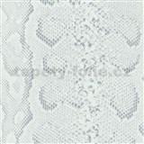 Samolepící tapety hadí kůže bílá 45 cm x 15 m