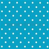 Samolepící tapety puntíky modré 45 cm x 15 m