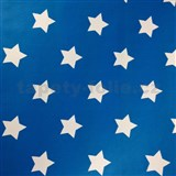 Samolepící tapety hvězdičky modrý podklad 45 cm x 15 m