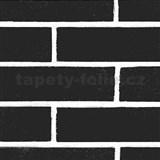Samolepící tapety cihla černá 45 cm x 15 m