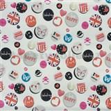 Samolepící tapety Buttons 45 cm x 15 m