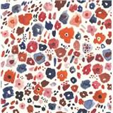 Samolepící tapety květinky červeno-modré 45 cm x 15 m