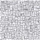Samolepící tapety 3D kostky šedé 45 cm x 15 m