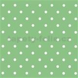 Samolepící fólie puntíky zelené - 45 cm x 15 m