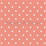 Samolepící fólie puntíky růžové - 45 cm x 15 m