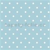 Samolepící fólie puntíky světle modré - 45 cm x 15 m