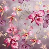 Samolepící fólie růžová orchidej růžovozlatá - 45 cm x 5 m