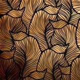 Samolepící fólie listy zlato-černé - 45 cm x 5 m