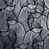 Samolepící fólie listy listy stříbrno-černé - 45 cm x 5 m