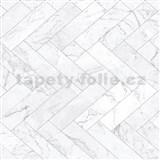 Samolepící fólie mramorové dlaždice šedé - 45 cm x 15 m
