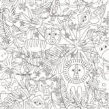 Samolepící tabulová folie Jungle - omalovánky - 67,5 cm x 1,5 m