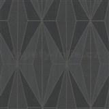 Vliesové tapety na zeď IMPOL Giulia Art-Deco vzor černý se stříbrnými konturami