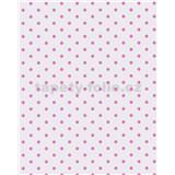 Vliesové tapety Gloockler Childrens Paradise - puntíky růžové na šedém podkladu