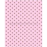 Vliesové tapety Gloockler Childrens Paradise - puntíky zlaté na růžovém podkladu
