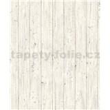 Vliesové tapety na zeď Facade dřevěná prkna světle šedé