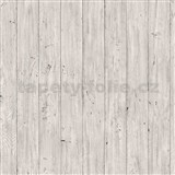 Vliesové tapety na zeď Facade dřevěná prkna šedé