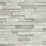 Vliesové tapety na zeď Facade dřevěný obklad světle šedý