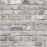 Vliesové tapety na zeď Facade cihla šedá, hnědá