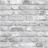Vliesové tapety na zeď Facade cihla bílo-šedá