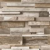 Vliesové tapety na zeď Facade dřevěná zeď hnědá