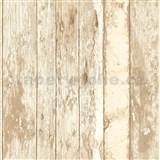 Vliesové tapety na zeď dřevěná prkna hnědá