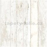 Vliesové tapety na zeď dřevěná prkna světle hnědá