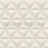 Vliesové tapety Unplagged 3D geometrie světle hnědá