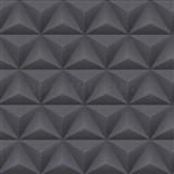 Vliesové tapety Unplagged 3D geometrie metalická šedá a černá