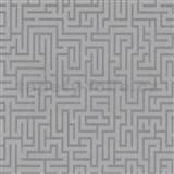 Vliesové tapety na zeď labyrint stříbrný - MEGA SLEVA