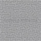 Vliesové tapety na zeď labyrint stříbrný