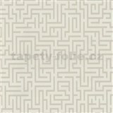 Vliesové tapety na zeď Graphics Alive - Labyrint světle hnědý - DOPRODEJ