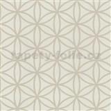 Vliesové tapety na zeď Graphics Alive - geometrické květy světle hnědé - SLEVA