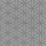 Vliesové tapety na zeď Graphics Alive - geometrické květy stříbrné - SLEVA