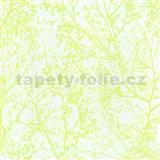 Vliesové tapety na zeď Graphics Alive - větve stromů neonově zelené - SLEVA