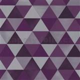 Vliesové tapety na zeď Graphics Alive - geometrický vzor fialovo-šedý - SLEVA