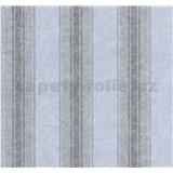 Vliesové tapety na zeď Graziosa pruhy hnědo-modré