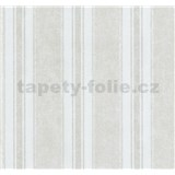 Vliesové tapety na zeď Graziosa pruhy hnědo-bílé